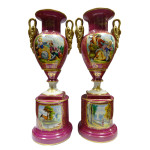 Porcelain-couple vases-ref-100.264